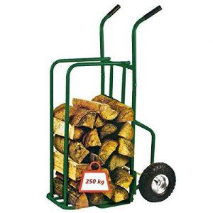 Provence Outillage 07511 Chariot à Buche Charge maxi 250 kg + Roues Gonflées Vert